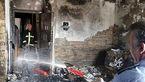 عملیات نفسگیر آتش نشانان برای نجات فردی گرفتار در میان شعله های آتش در کازرون + عکس