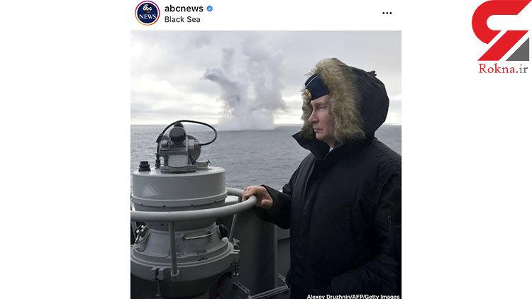 ژست پوتین در لحظه امتحان جدیدترین موشک روسی+عکس