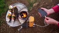 اجاق گازی شارژی برای سفر در جنگل!