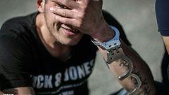 واکنش یک سارق دستگیر شده به دوربین+عکس
