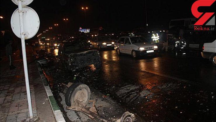 جسد له شده یک زن در بزرگراه شهید فهمیده تهران+تصاویر