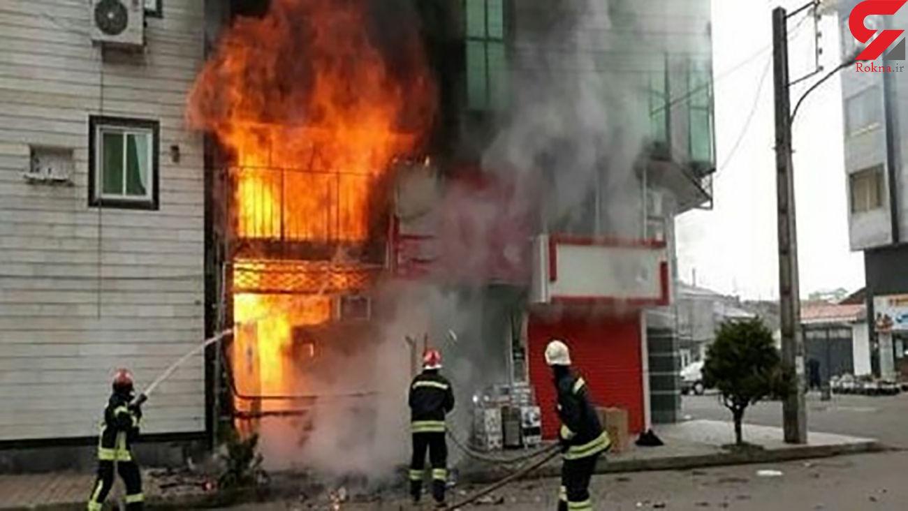 آتش سوزی در مغازه بزرگراه شهید سلیمانی