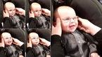 فیلم قهقه های نوزادی نابینایی که نخستین بار دنیا را دید+عکس