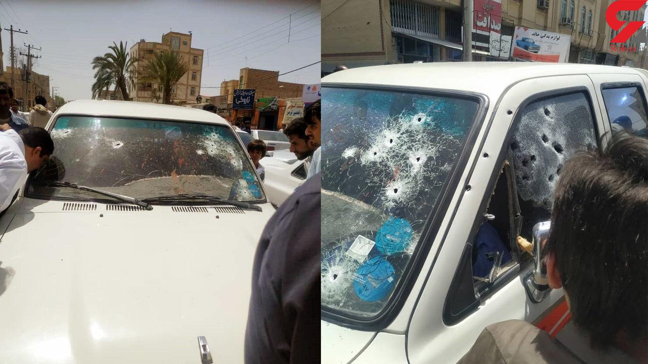 عکس های لحظه ترور یکی از بزرگان بلوچستانی و راننده اش در خیابان مولوی + عکس