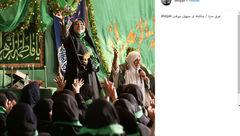 عکس عجیب خانم بازیگر ایرانی در یک مراسم ! + جزییات