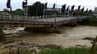 تخریب پل شهر اسالم تالش در اثر سیلاب