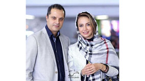 شبنم قلی خانی در کنار همسرش + عکس