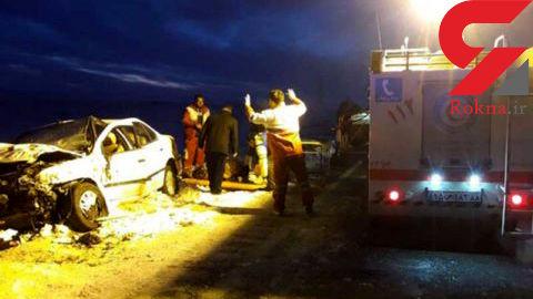 یک کشته و ۱۰ مصدوم در پی تصادف سمند و پژو ۴۰۵