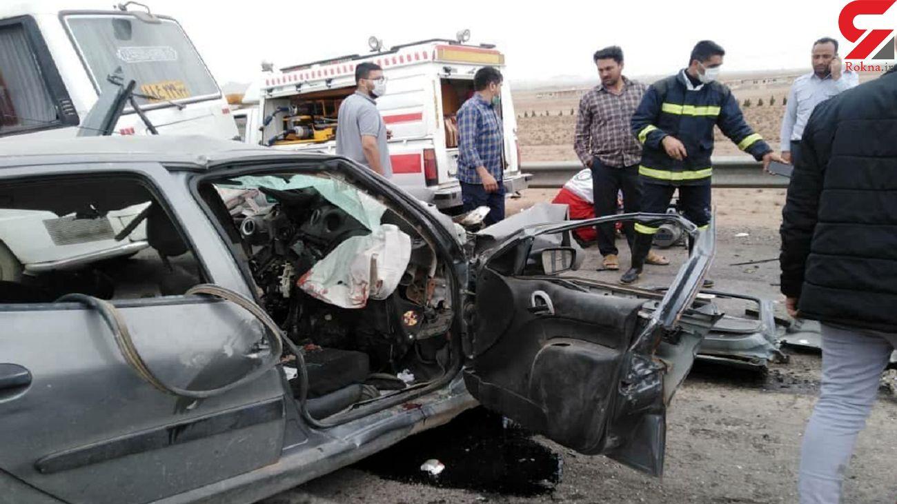 پنج کشته و مصدوم در برخورد رانا با مینی بوس در خراسان رضوی