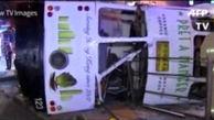 فیلم واژگونی اتوبوس در هنگ کنگ