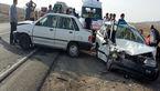 شاخ به شاخ شدن 2 پراید در ایرانشهر حادثه آفرید