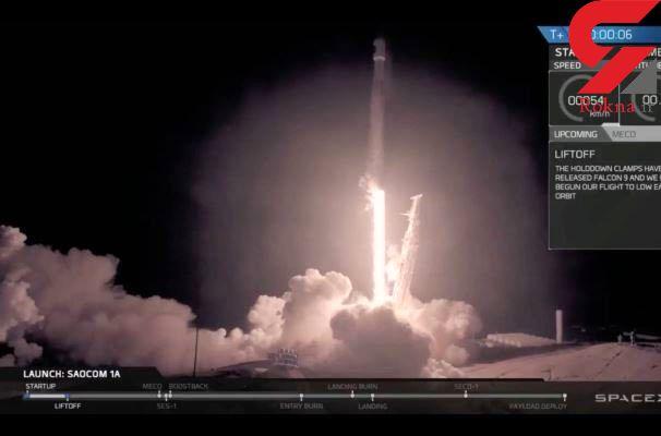 فرود آمدن قسمت اول موشک اسپیس ایکس /شب گذشته در کالیفرنیا