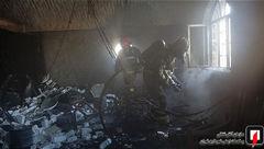 آتش در کارگاه مبل سازی + عکس