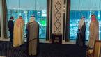 محمد بن سلمان در حال تماشای کعبه از هتل لاکچری + عکس