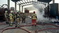 آتش در کارگاه مواد نفتی قلعه نو ورامین/چه بر سر کارگر 35 ساله آمد؟
