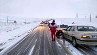 نجات جان 44 خودروی گرفتار در برف / در اشنویه رخ داد