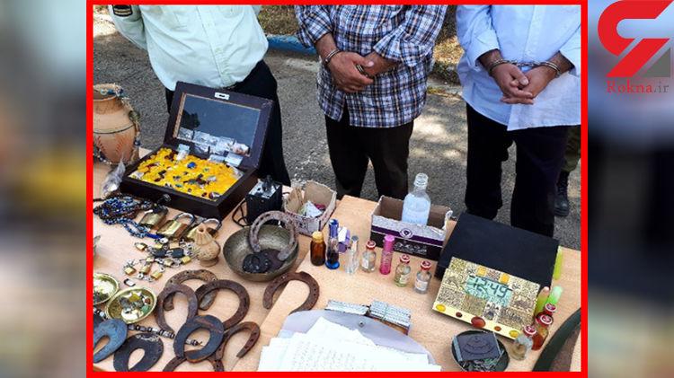 دستگیری 2 دعانویس پلید در آبعلی +عکس