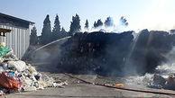 مهار آتش سوزی کارخانه کارتن سازی شهرک صنعتی شاهرود + عکس