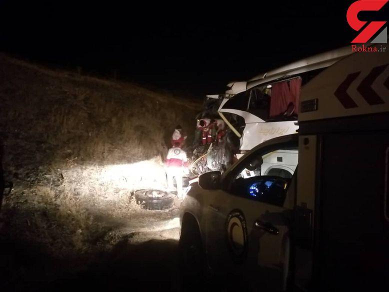 خروج اتوبوس از محور سمنان-دامغان یک کشته و هفت مصدوم داشت