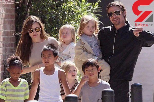 آنجلینا جولی و برد پیت سر حضانت فرزندانشان توافق کردند+ عکس