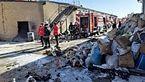 انفجار و آتش سوزی شدید تانکر در یزد + عکس