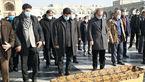 عکس / محمد خادم در کنار بارگاه امام رضا (ع) به خاک سپرده شد