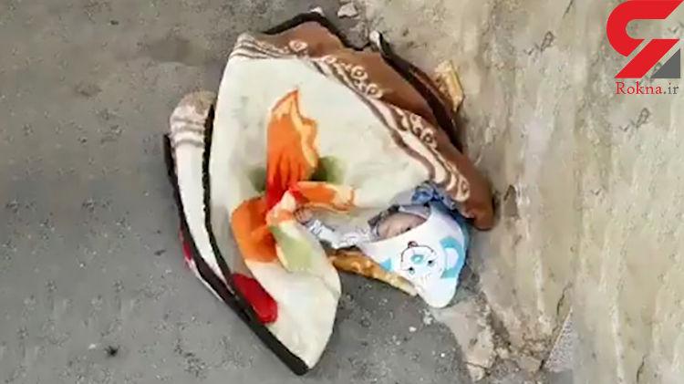 عکسی تکاندهنده از یک نوزاد رها شده در شهرضا + فیلم