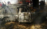 3 عکس از زنده زنده سوختن مرد خوزستانی در آتش سوزی نیسان