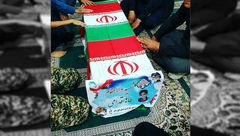 تابوت کوچکترین شهید حمله تروریستی اهواز +عکس
