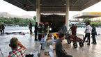 آتش سوزی در ترمینال مسافربری امام رضا مشهد + فیلم و عکس