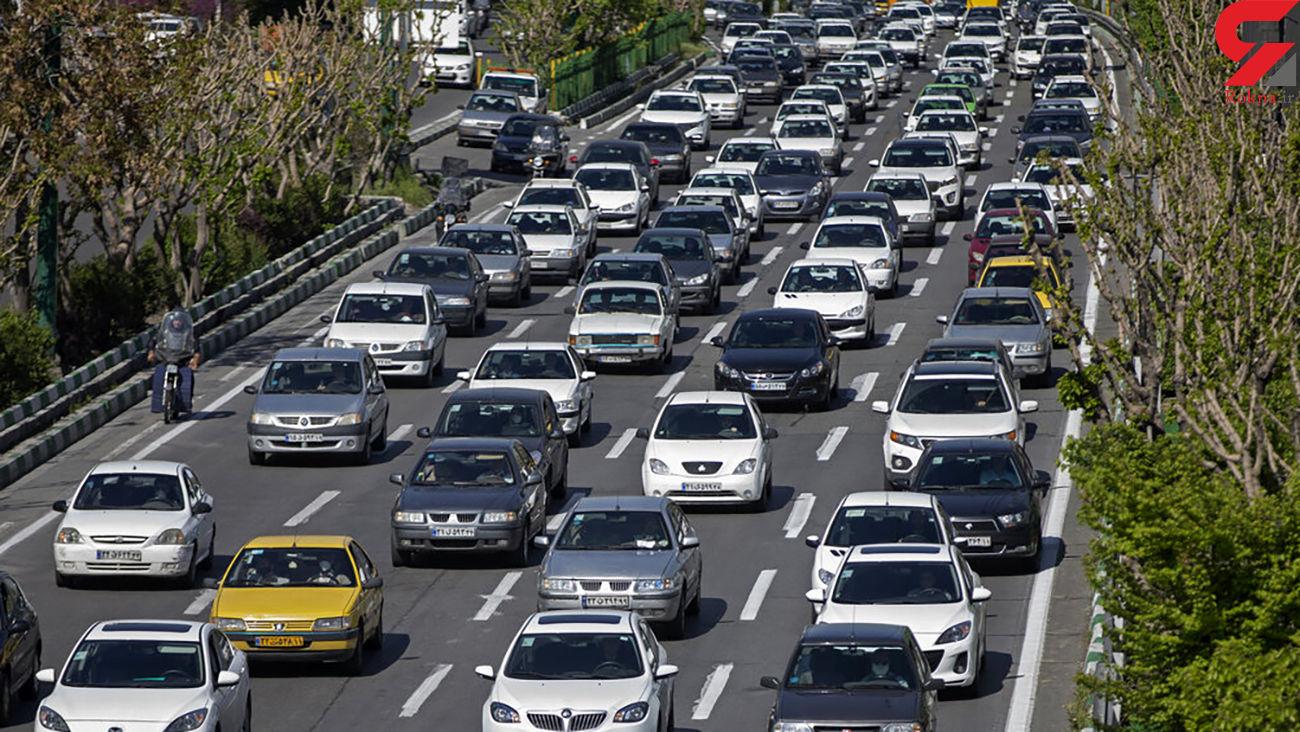 وضعیت ترافیکی معابر تهران امروز 12 خرداد