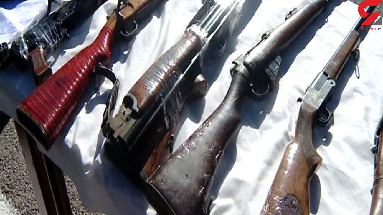 کشف 33 قبضه سلاح شکاری و جنگی در ایلام