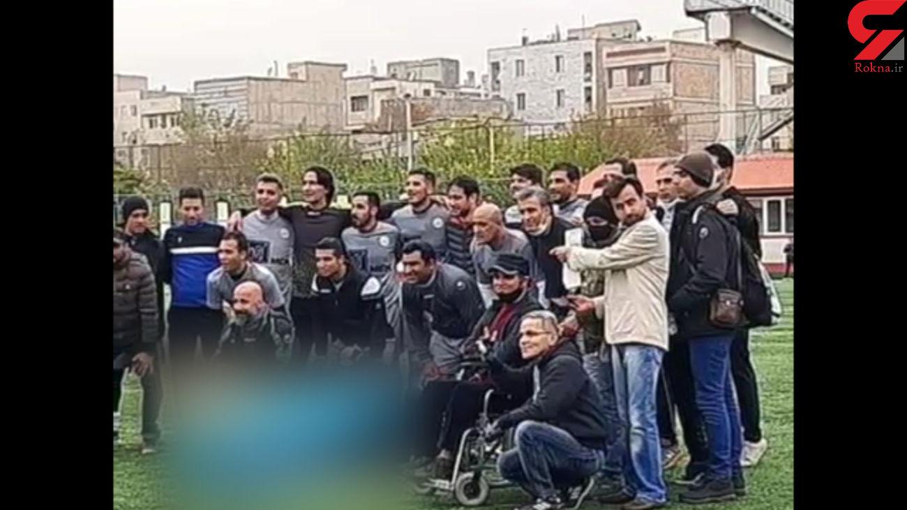 عادل فردوسی پور در کنار بزرگان فوتبال + فیلم