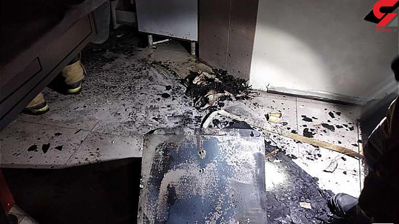 آتش سوزی خانه مسکونی در بلوار فردوس + عکس ها