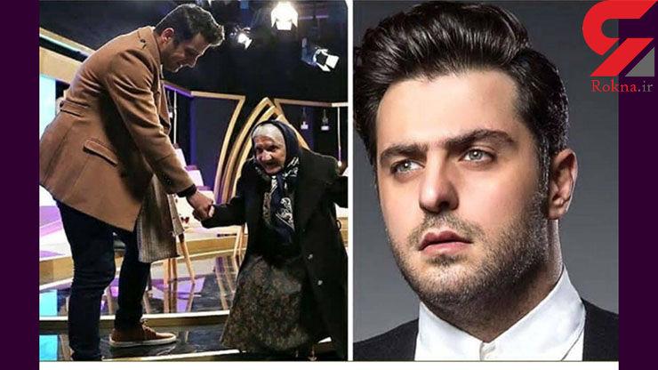 علی ضیا روی آنتن زنده دست یک بانو را گرفت! + عکس