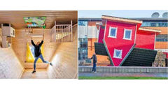 ساخت نخستین خانه واژگون در بریتانیا + عکس