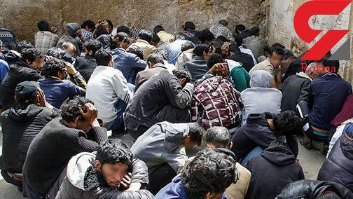 دستگیری 89 معتاد خطرناک و ولگرد در شیراز +عکس