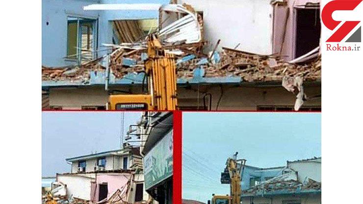 تخریب خانه کودکی ابتهاج در رشت+ عکس