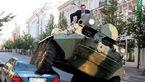شهردار با تانک  ماشین متخلف را له کرد +عکس