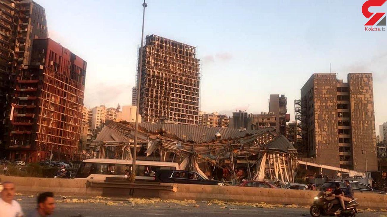 لحظه گریه کردن فرماندار بیروت در انفجار مرگبار  بیروت+ فیلم
