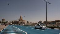 رونمایی از خیابان آبی در قطر/ راهکاری برای کاهش دما + عکس