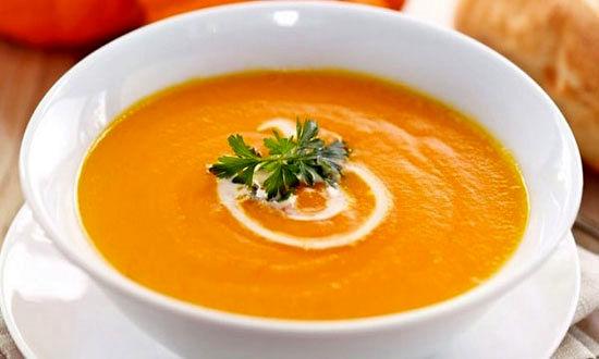 سوپ خوشمزه با چاشی پرتقال