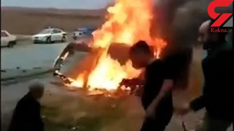 تکاندهنده ترین فیلم از  زنده زنده سوختن 5 نفر در مسجد سلیمان / کودکان نبینند!