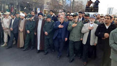پیکر سردار منصوری در مشهد تشییع شد