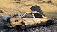 زنده زنده سوختن 3 مسافر در پژو 405 / رهگذران جیغ های شان را شنیدند + عکس