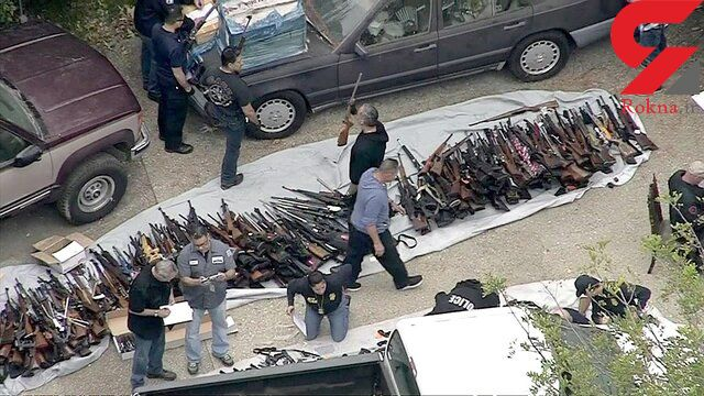 کشف یک محموله بزرگ سلاح در لس آنجلس+عکس