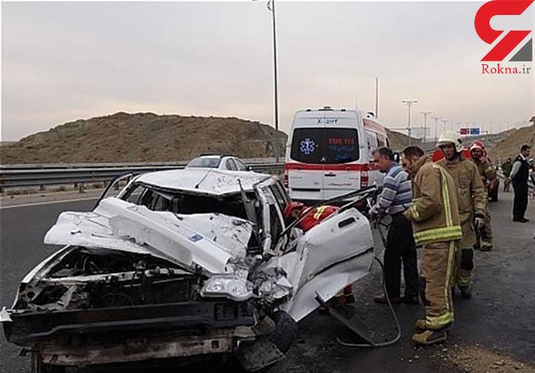 کشته شدن راننده پراید در آزادراه قزوین-زنجان