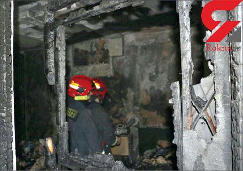 کودک 5 ساله، ساختمانی را به آتش کشید