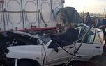 تصادف مرگبار پراید و کامیون در قم / زن و مرد جوان در دم کشته شدند