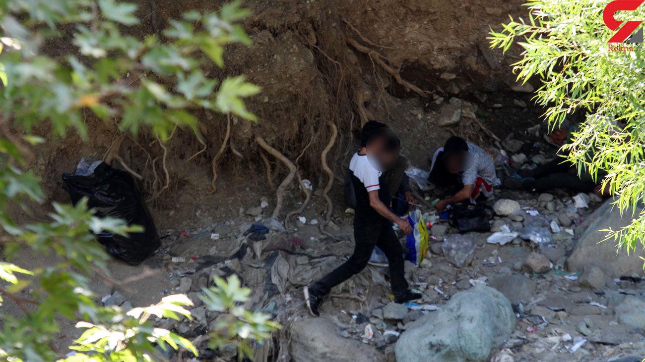 پاتوق دود و نعشگی در قلب پایتخت /  زنان، اینجا زودتر میمیرند + فیلم و عکس